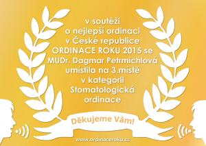 PLAKETA ordinace roku 2015_Petrmichlova na web